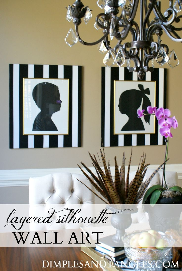 Diy Layered Silhouette Oversized Wall Art Oversized Wall Arthome Decor