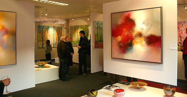 Eelco Maan I lyrical abstract paintings I  Galerie Tolg'Art, Wierden  I  2011