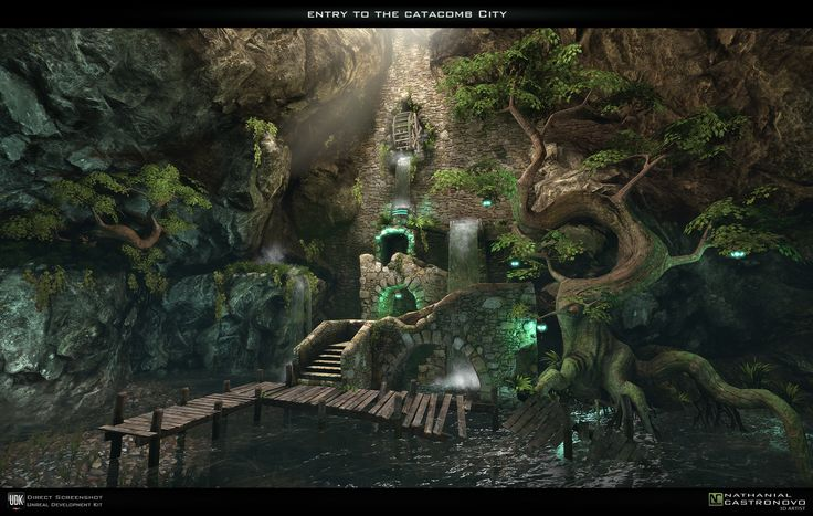 Entry to the Catacomb City by natetheartist on DeviantArt