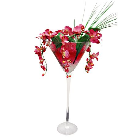 Martini Glass Centerpieces Large Martini Glass Vases Centerpieces Ebay Glass Flower