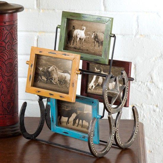 Western Decor Frames: Western Photo Frame Wheel