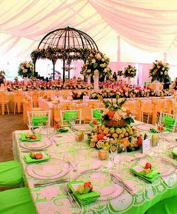 garden theme wedding