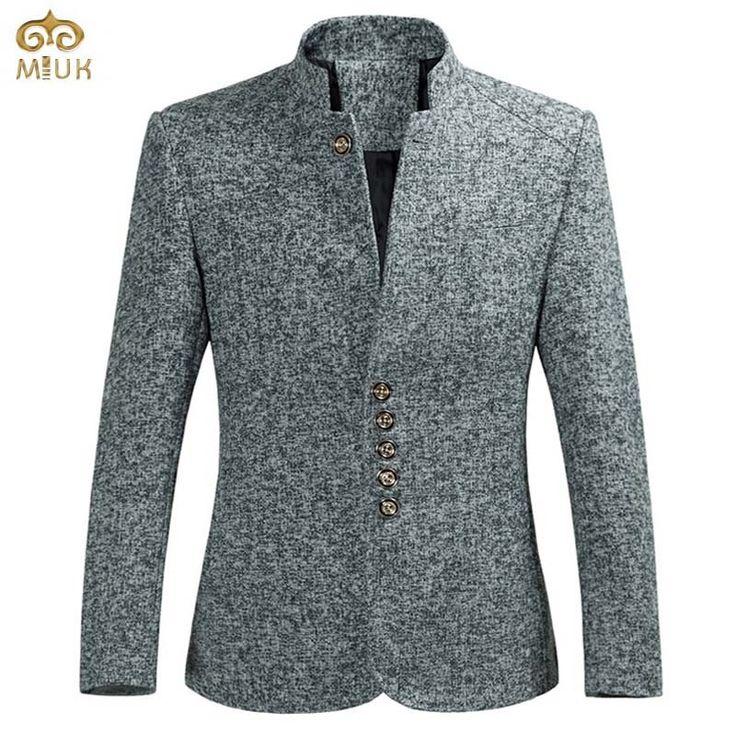 MIUK 11.11 2017 New Large Size Black Gray Brand Men Blazer 6XL 5XL National Style Men Suits Slim Fit Casual Suit Jacket Suit Men