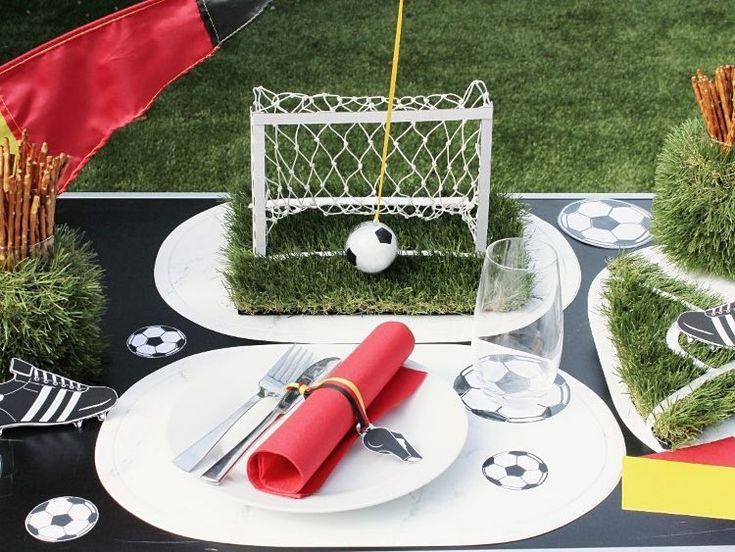 DIY-Anleitung: Tischdeko für die Fußball-EM selber machen via DaWanda.com