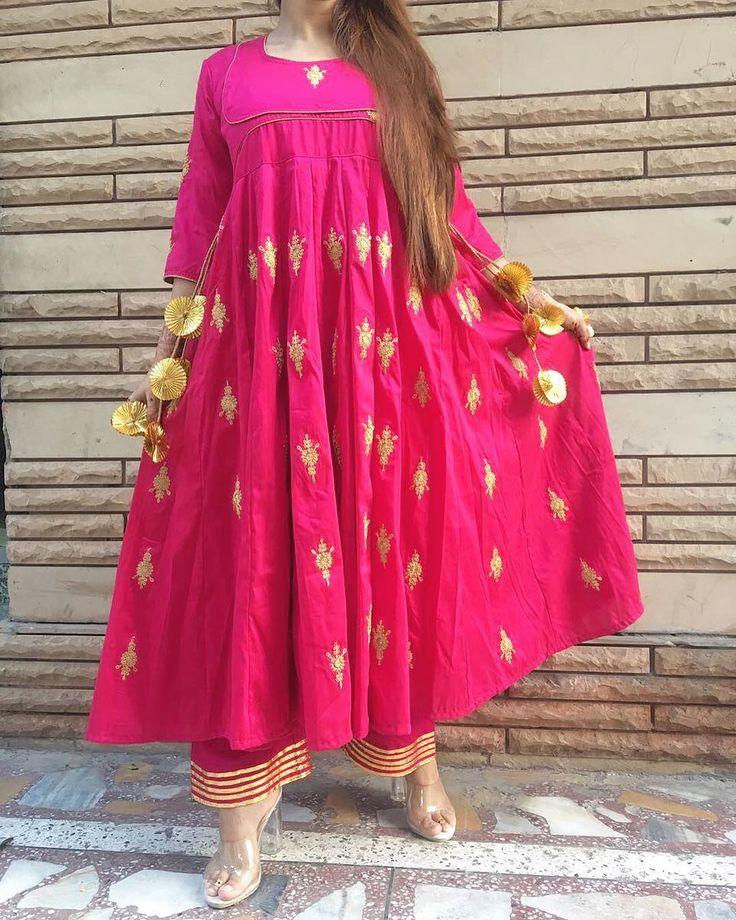 "1,498 Likes, 117 Comments - GulaboJaipur (@gulabo_jaipur) on Instagram: ""Oh so Gulabo !! in @gulabo_jaipur cotton silk anrkali with lining + gotta details cotton pajama for…"""