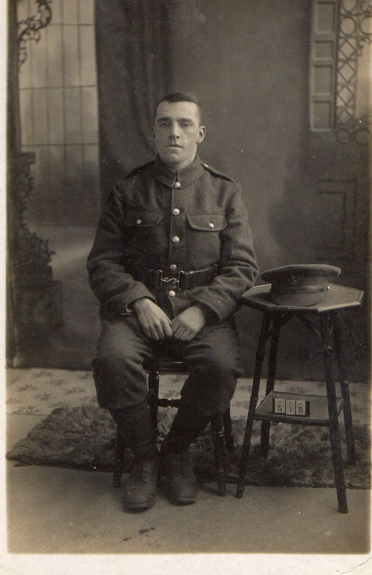 WWI ~ An unknown soldier of the Loyal North Lancashire Regiment taken at Frimley Green, Surrey.  {Thanks to Roger Morlidge}
