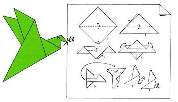 Cómo hacer una paloma de la paz con papel