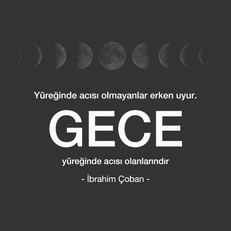 Yüreğinde acısı olmayanlar erken uyur. Gece yüreğinde acısı olanlarındır. - İbrahim Çoban (Kaynak: Instagram - ibrahimcoban68) #sözler #anlamlısözler #güzelsözler #manalısözler #özlüsözler #alıntı #alıntılar #alıntıdır #alıntısözler #şiir #edebiyat