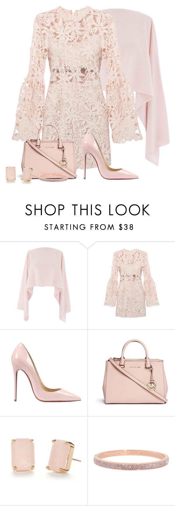 """""""LACE DRESS"""" by arjanadesign ❤ liked on Polyvore featuring Henri Bendel, Christian Louboutin, Michael Kors, Kate Spade, women's clothing, women's fashion, women, female, woman and misses"""