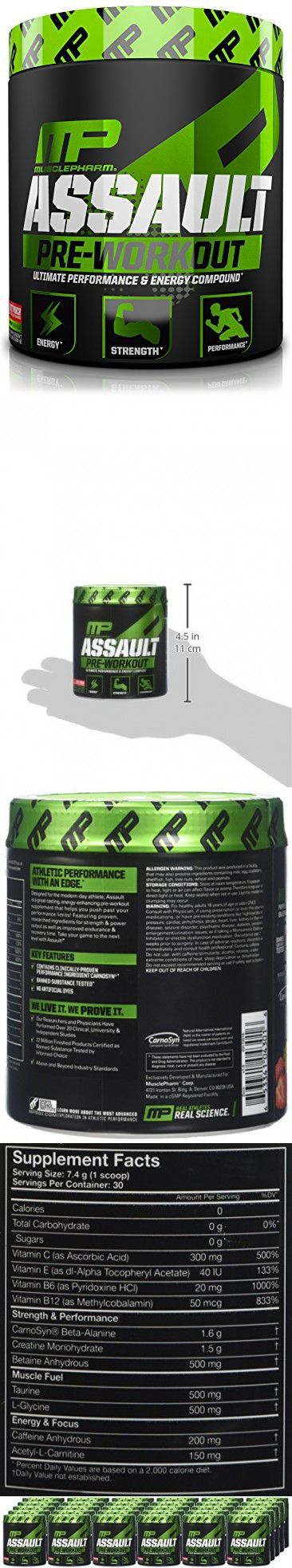Muscle Pharm Assault Pre-Workout Powder, Fruit Punch, 30 Serivings