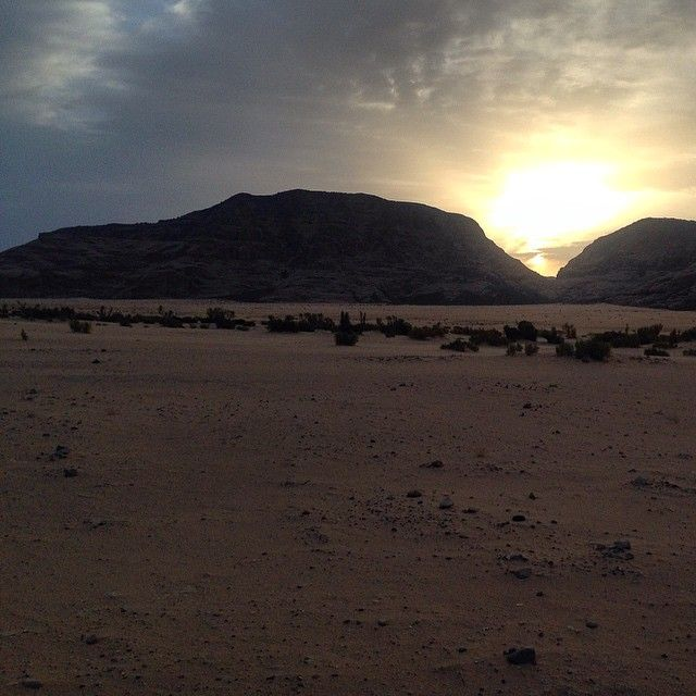 A superb dawn in the desert! #desert #travel #TravelAdventurer #GrabYourDream #Jordan #WadiRum #adventure