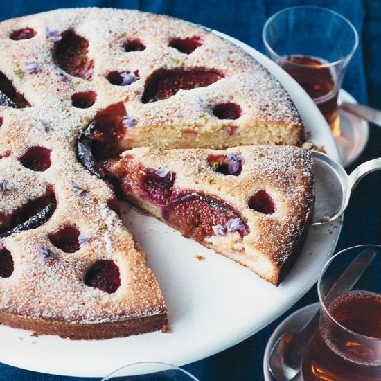 Raspberry-and-Fig Cake | \u201cI snagged this dessert from my Scandinavian grandmother,\u201d says Mehmet G\u00fcrs. \u201cShe used a wood-burning oven, a cast-iron skillet and fresh island berries.\u201d Use additional raspberries when figs are not in season. Good Cake for everyday  #cakerecipe  #confectionery