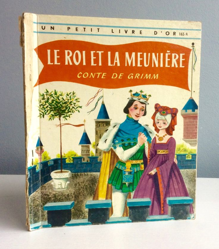 Le roi et la meunière - The king and the miller. A vintage GoldenBook, Livre d'or. door lalinia op Etsy