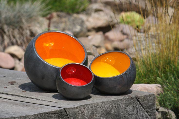 Lichtschalen im Garten  marwo-keramik.de