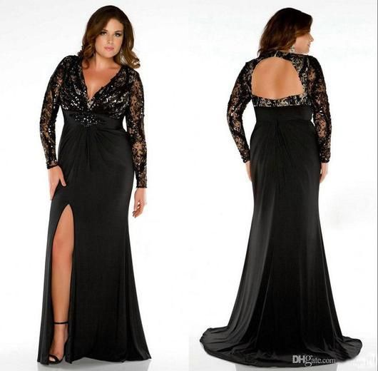 Long sleeve homecoming dresses plus size