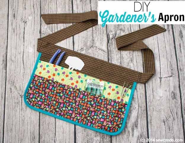 DIY Sewing Gift Ideas for Adults and Kids, Teens, Women, Men and Baby - DIY Gardener's Apron - Cute and Easy DIY Sewing Projects Make Awesome Presents for Mom, Dad, Husband, Boyfriend, Children http://diyjoy.com/diy-sewing-gift-ideas