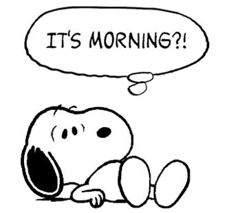 Snoopy Waking Up