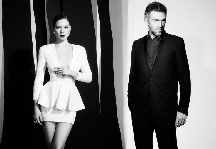 Léa Seydoux & Vincent Cassel Pose for Val & Musso in L'Express Styles
