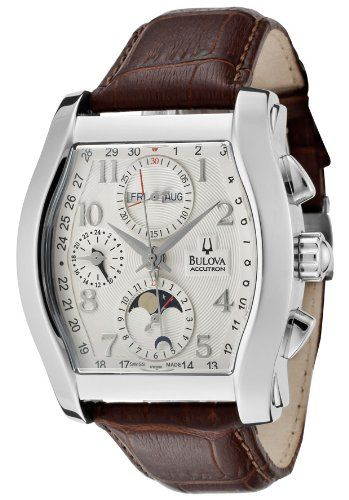 Bulova Accutron Stratford Automatic Chronograph Moon Phase Steel Mens Watch 63C000