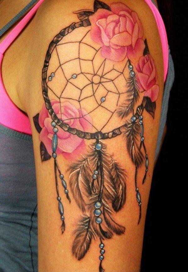 50 Beautiful Dream catcher Tattoo for Women (15)