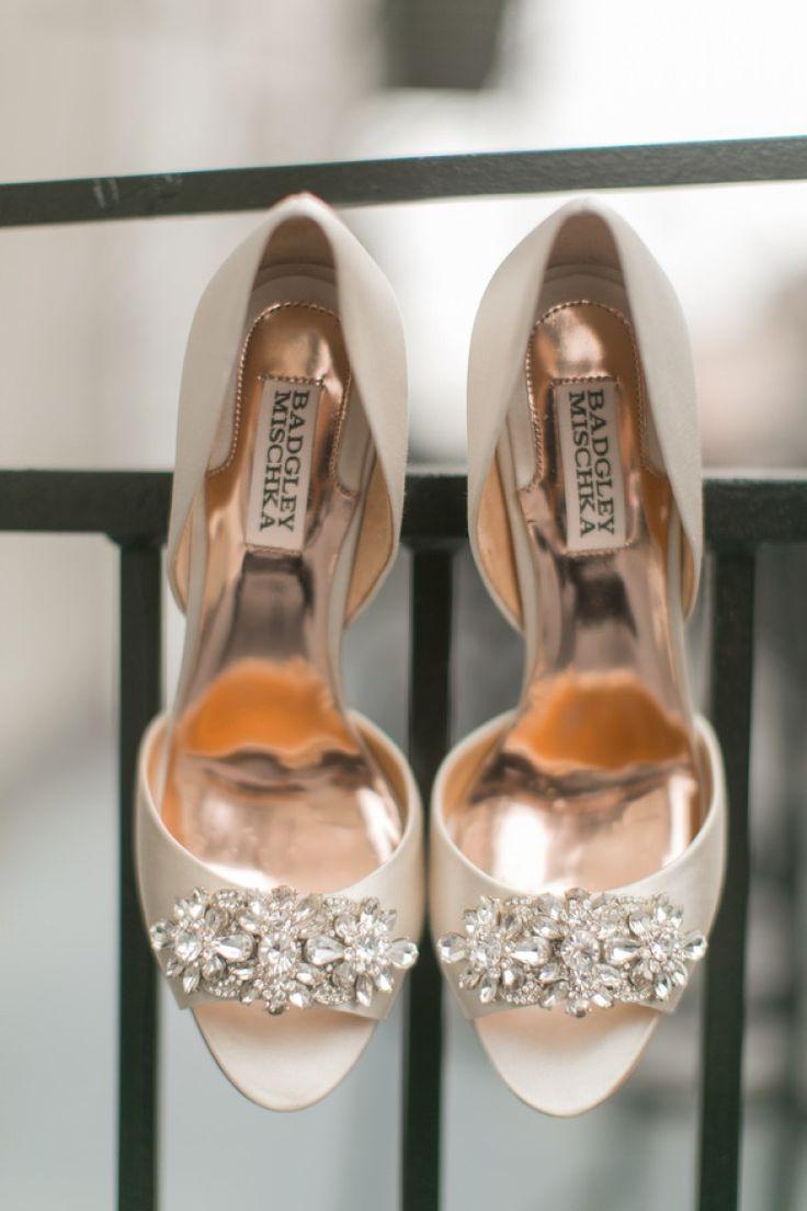 Bridal Shoes. Radiant Orchid Louisiana Wedding by Arte De Vie - KnotsVilla