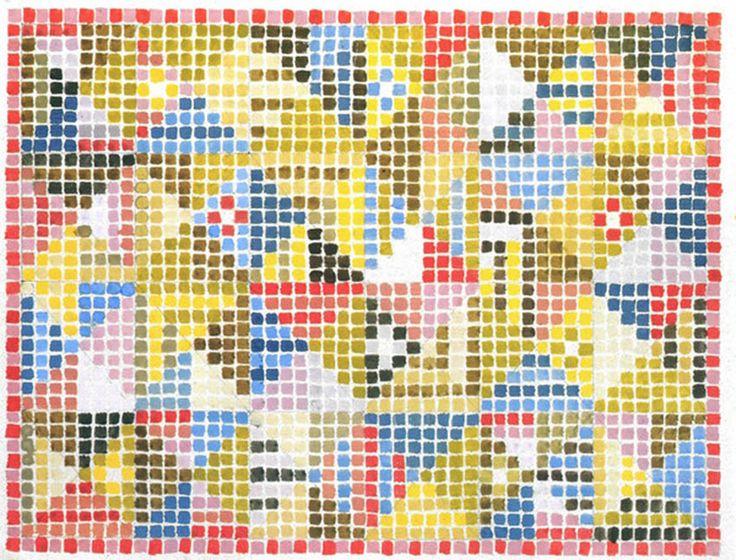Textile Design / Bauhaus Weimar – about 1923 / 26.8 x 19.2 cm
