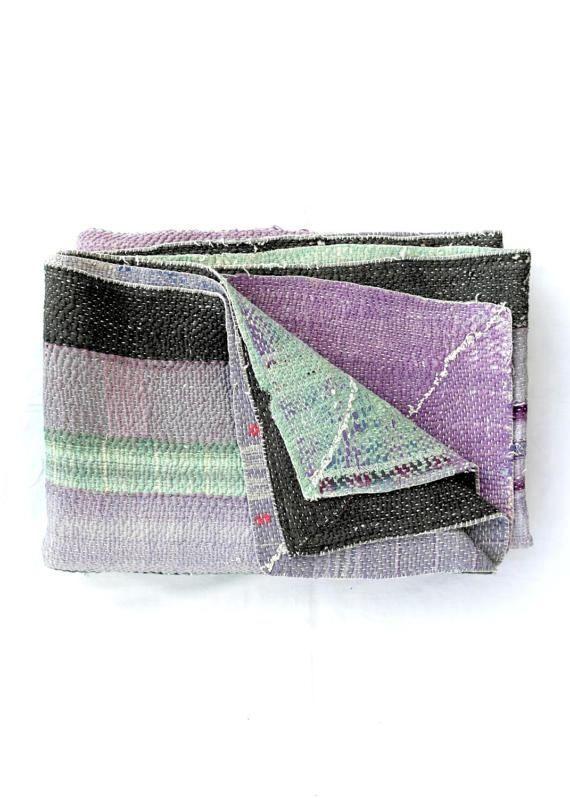 kantha quilt, kantha throw, coverlet, indian throw, bedspread, kantha throw, blanket throw, recycled blanket, kantha