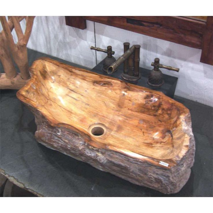Petrified Wood Vessel Sink Sinks And Vanities Pinterest Design Cream And Powder