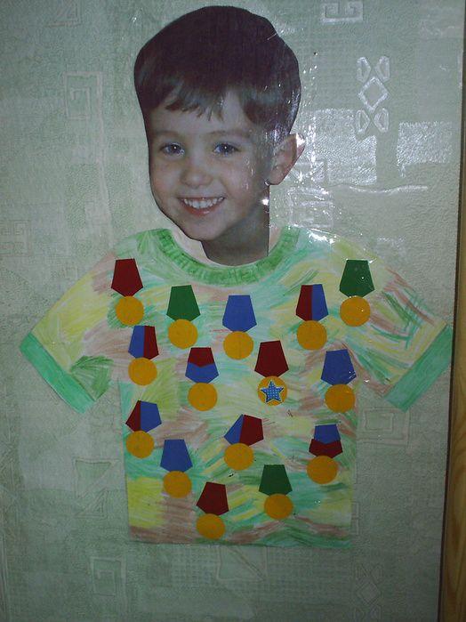 warme trui en foto van het kind, eventueel sjaal erbij