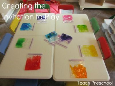 Great post a must read for preschool teachers!How to set up a proper play environment- Make it appealing, engaging, challenging,hands-on, curious,colorful surprising, tempting, obvious, creative, real, fun, ready, interesting, and open ended!