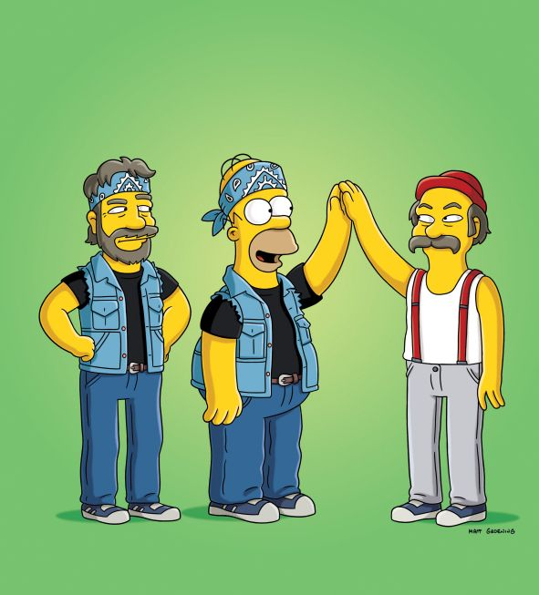 simpsons cannabis and cheech and chong