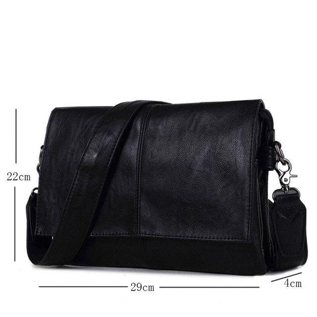BAIJIAWEI New Arrival Men Leather Shoulder Bag Envelope Style Bag Large-capacity Messenger Bags High Quality PU Leather Handbags