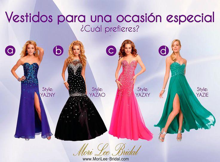 Vestido para una ocasión Especial ¿Cual Prefieres?  #boda #vestidodeboda #vestidodefiesta #Amor