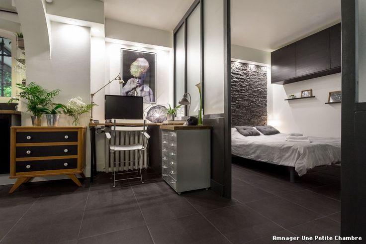 Amnager Une Petite Chambre with Contemporain Bureau À Domicile