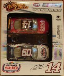 2009 Winner's Circle Limited Edition NASCAR Two Car Set Daytona 500 - #14 Tony Stewart Office Depot, Black Roof Impala SS 1:64 Diecast Car #1 - #14 Tony Stewart Office Depot, Black Roof Impala SS 1:64 Diecast Car #2 - 51st Running of Daytona Theme...