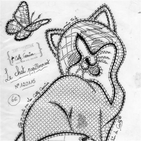 76 best dentelle aux fuseaux chats a tester images on - Modeles gratuits de grilles de dentelles aux fuseaux ...