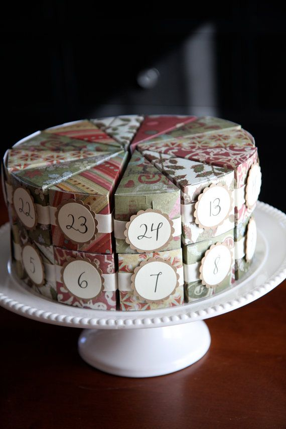 Sparkle Berry Advent Cake by daisyanddots on Etsy - great idea for Christmas or birthday countdown!