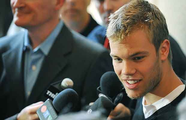 Taylor Hall, he doesn't look like Frankenstein anymore. =]