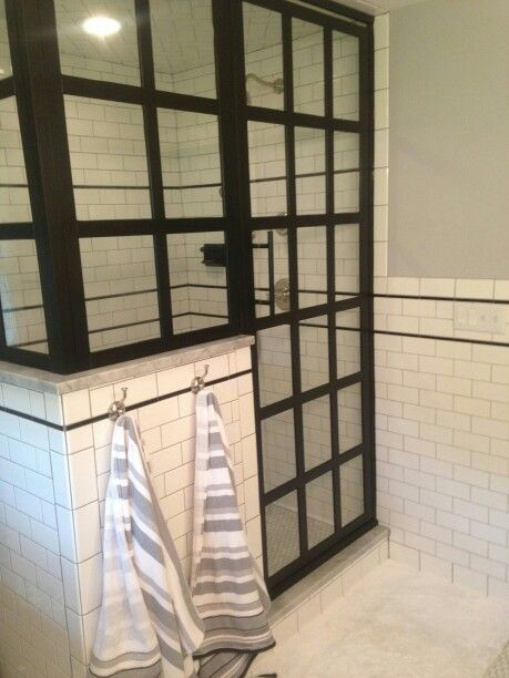 Gridscape Series GS1 True Divided Light Shower Door By Coastal Shower Doors  Www.coastalshowerdoors.