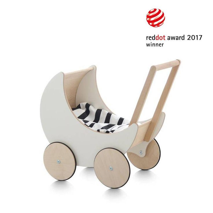 We're so happy to announce that our Toy Pram has just been awarded a Red Dot Award: Product Design 2017. 🔴 Nina Mihovec and Peter Rojc at @wilsonicdesign have designed the toy pram for Wilsonic Design's ooh noo brand to be a modern interpretation of the traditional doll pram, to be functional and attractive to children and mothers, thanks to its all-natural, old-world materials, simplified shape and timeless style... www.ooh-noo.com