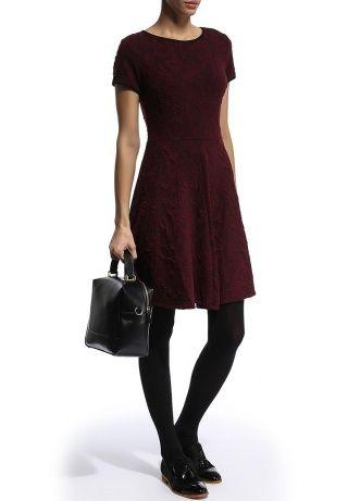 Платье Dorothy Perkins, цвет: бордовый. Артикул: DO005EWDHO38