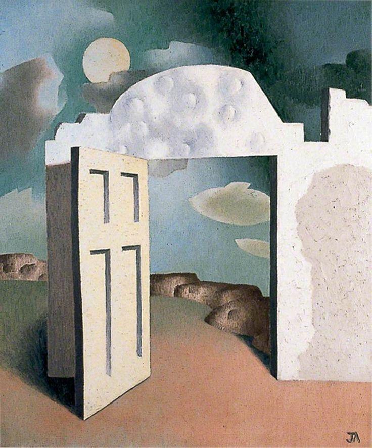 open door painting. The Open Door, 1930 John Armstrong Door Painting