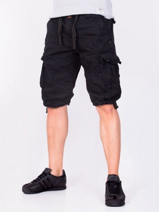 Pantaloni scurti barbati Outdoor Denim negri