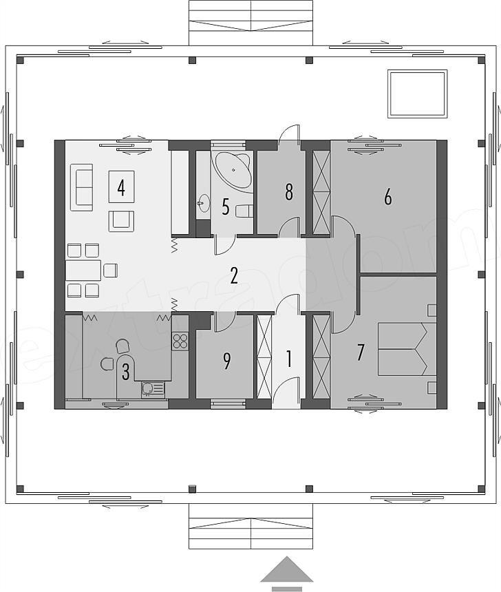 Одноэтажник 2 спальни