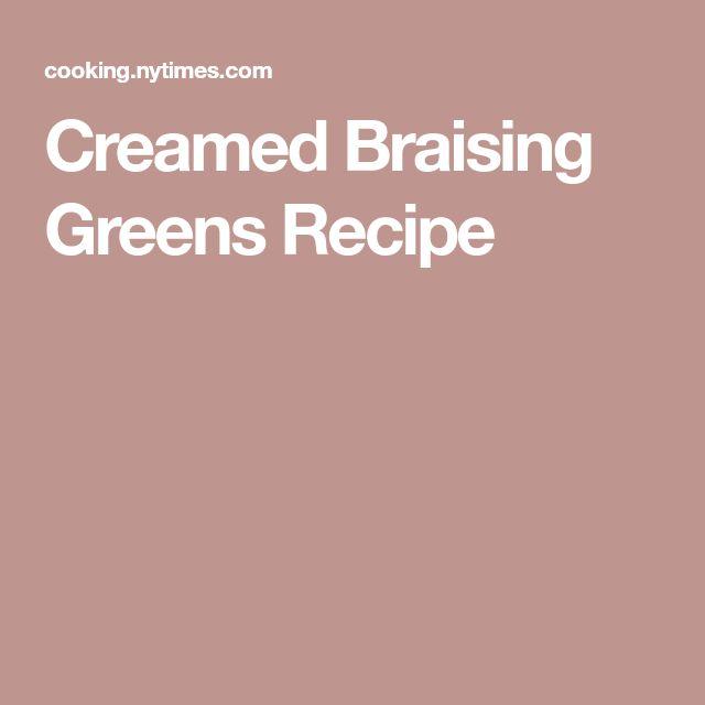 Creamed Braising Greens Recipe