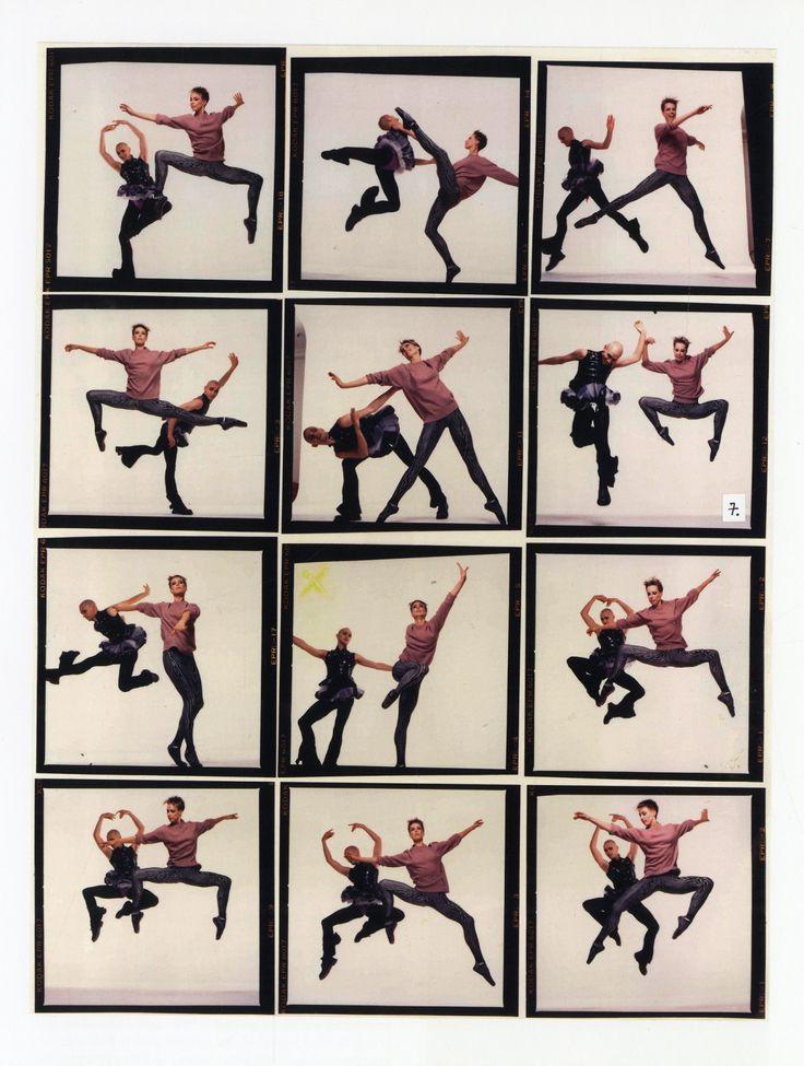 Michael Clark and Karole Armitage Hammersmith 1982 Contact sheet. Riverside Studios, London UK. courtesy of Karole Armitage.  photo by Chris Harris