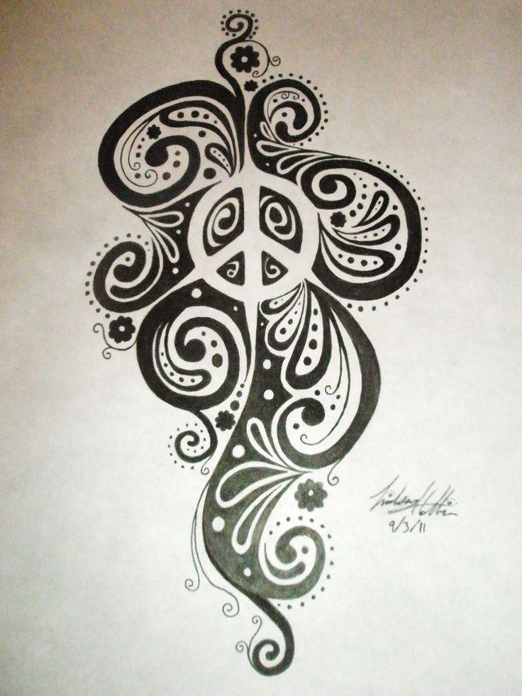 135 besten peace tattoo bilder auf pinterest peace zeichen mandalas und friedenszeichen tattoos. Black Bedroom Furniture Sets. Home Design Ideas