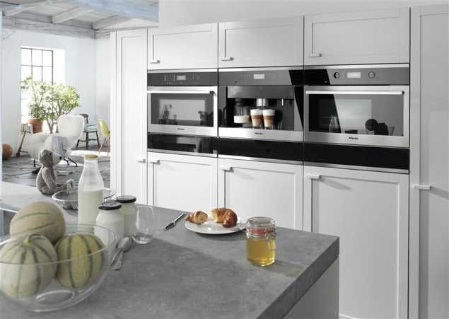 Contemporary Kitchen Design Trends 2014 Unite New Materials, Natural Kitchen Colors and Integrated High Tech Appliances