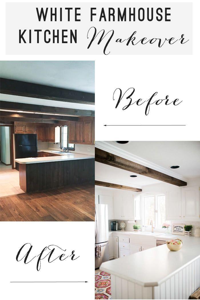 Our White Farmhouse Kitchen Makeover || Part One