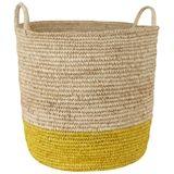 Bright Band 2 Handle Basket Large Yellow